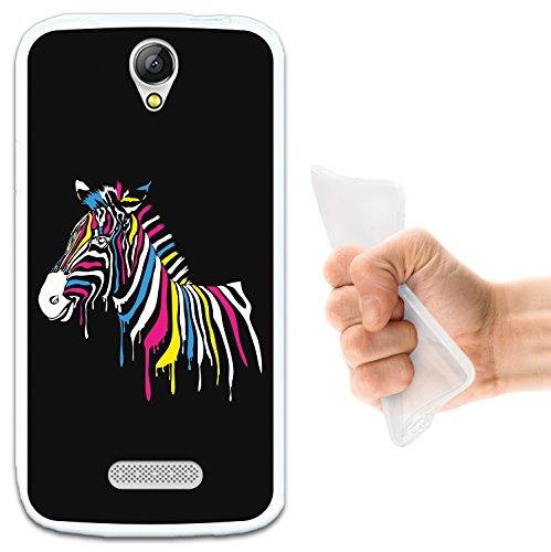 WoowCase Doogee X6 - X6 Pro Hülle, Handyhülle Silikon für [ Doogee X6 - X6 Pro ] Regenbogen Zebra Handytasche Handy Cover Case Schutzhülle Flexible TPU - Transparent
