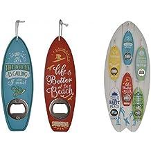 Abridor de botellas con forma de tabla de surf, elección de colores, ideal para