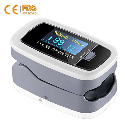 【Salud❤Portátil】Mpow Oxímetro de Dedo, Pulsioxímetro de Dedo Oxímetro Pulsómetro Digital,Lector de Pulso Digital de Lectura Instantánea,Monitor de Frecuencia de Pulso,Aprobado por FDA&CE