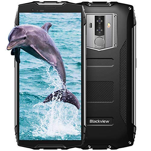 Blackview BV6800Pro Robust Smartphone (2019), IP69K 6580mAh Kabelloses Laden, Outdoor Smartphone Android 8.0 4GB RAM + 64GB, 8MP + 16MP Kameras 18:9 FHD+ 5.7'' Display,Schwarz