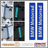 Black Doves Graphics 2pcs Reflektierende Aufkleber BMW Motorrad R 1200 1150 F 800 650 F700 GS A R1200GS R1200 Touratech Motorcycle Aluminium Panniers Streifen (Blue)