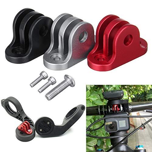 Pinkfishs BIKIGHT Bicicleta Manillar Ordenador Camara Montaje Adaptador Soporte para GoPro Garmin Edge/Bryton Ordenador -