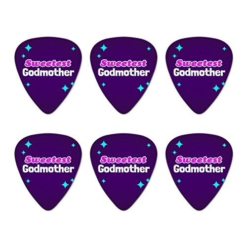 Sweetest Gute Neuheit Gitarre Plektrum Plektron Picks Stärke Medium – Set of 6