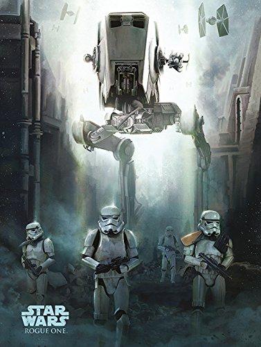 Star Wars Rogue One–Stormtrooper Patrol 60x 80cm Leinwanddruck, mehrfarbig
