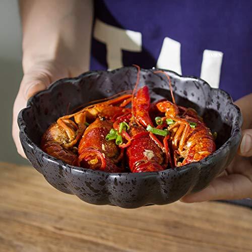 SED Besteck-Set Creative Bowl Restaurant Dish Western Plate, Keramikschale Schüssel schwarzer Salat Dessert Teller Snack Bowl Glasur Geschirr für Restaurant 6 Zoll,4,5 Zoll Celadon Dessert