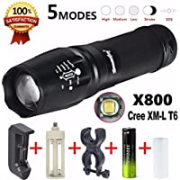 Sky Wolf Eye Koly 5000 lúmenes G700 LED linterna zoom X800 Militar Lumitact antorcha+ 18650 +