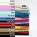 """Crazypriceuk PAIR OF PILLOWCASES PILLOW CASES SET 65X65CM (26""""X26"""")(VARIOUS COLOURS AVAILABLE)"""