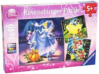 Disney Princess - Puzzle, 3 x 49 piezas (Ravensburger 09339 7) de Ravensburger