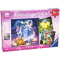 Ravensburger 93397 Le principesse Disney Puzzle 3x49 pezzi