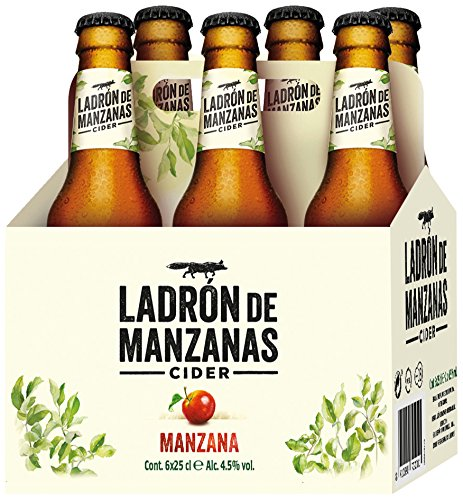 Ladrón de Manzanas Cider - Packs de 6 Botellas x 250 ml - Total: 1.5 L