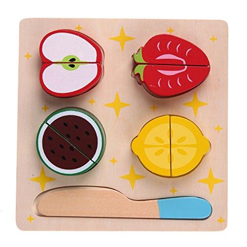 Domybest Holz Küche Cut Obst Lebensmittel Pretend Spielen Puzzle Kinder Pädagogisches Spielzeug