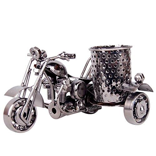 Freude Creative Motorrad Retro Stift geformt Halter Decor Metall Crafts Stifthalter für Home Office Dekoration Desktop Zubehör–perfekte Geschenke für Motorrad Liebhaber. schwarz
