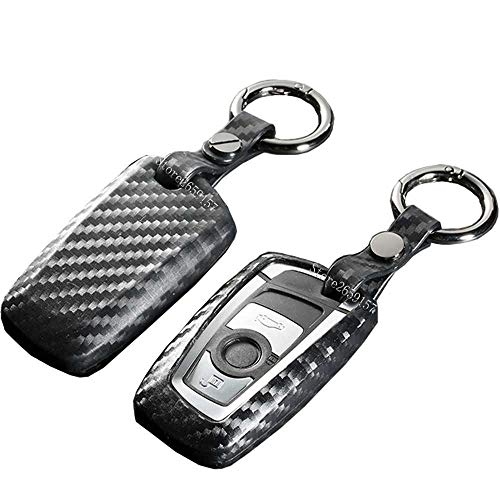 GHGJHGDFSDCarbon Fiber Car Styling Protection Key Shell Key Case Cover For Bmw 520 525 730Li 740 118 320I 1 3 5 7 Series X3 X4 M3 M4 M5,2