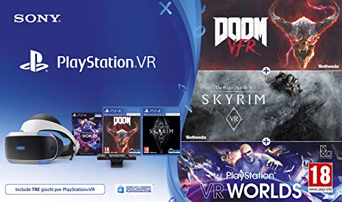 PlayStation VR + PS Camera + VR Worlds + Skyrim VR + DOOM VR