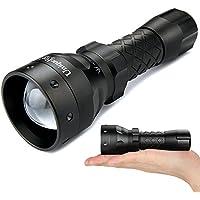 Uniquefire 1504 IR Zoomable Torcia a LED 850 nm 67 mm Lente con Messa a Fuoco Regolabile Luce, Infrarossi, Visione Notturna Caccia