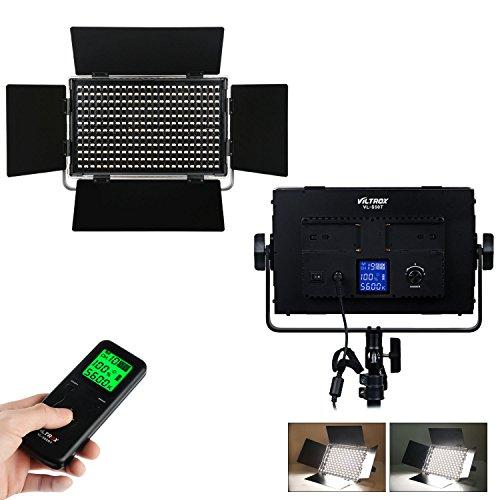 VILTROX® VL-S50T 50 Watt 4300LM Bi-Color Video LED Panel Fotografie Studio Beleuchtung LED Licht für Canon Nikon Sony DSLR Kamera DV Camcorder, 3300K-5600K / CRI 95 +