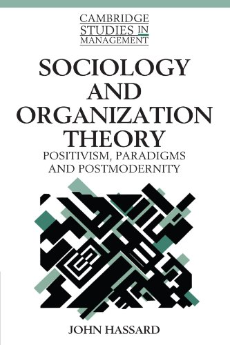 Sociology and Organization Theory: Positivism, Paradigms and Postmodernity (Cambridge Studies in Management)