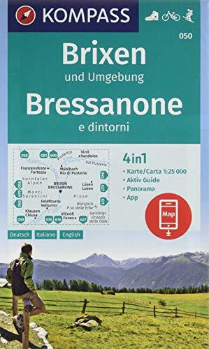 Wandern Wanderkarten (KOMPASS Wanderkarte Brixen und Umgebung, Bressanone e dintorni: 4in1 Wanderkarte 1:25000 mit Panorama und Aktiv Guide inklusive Karte zur offline ... Skitouren. (KOMPASS-Wanderkarten, Band 50))