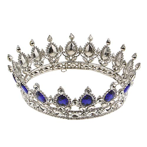 FLAMEER Wedding Tiara Nuziale diadema con Cristalli Strass per la Cerimonia Nuziale Proms spettacoli Principessa Feste Compleanno