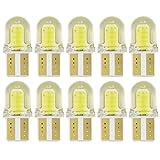 Safego 10x T10 LED W5W COB 8 SMD Voiture Plaque D'immatriculation Dôme Ampoule Intérieure Liseuses Cargo Imperméable 1.5W 12V