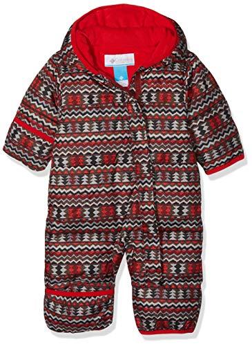 Columbia Mono para bebé, Snuggly Bunny Bunting, Rojo Element Zigzag, Red Spark, Talla 12/18 Meses