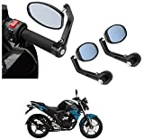 #5: AutoSun Bar End Mirror Rear View Mirror Oval For Yamaha FZ V2.0 FI