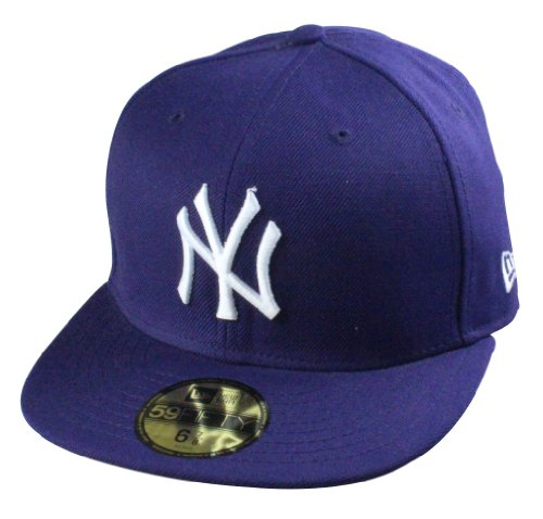 New Era Basic Cap New York Yankees purple/white | Größe 7 1/4