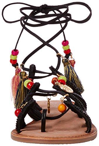 Gioseppo Satanta, Sandali Donna Multicolore (Nero)