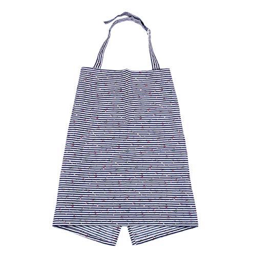 Sen-Sen Tragbare Baby Mama stillen Pflege Decke Abdeckung schal Tops Abdeckung blau und weiß 98 * 57 cm Streifen (Das Für Stillen Pflege-abdeckung)