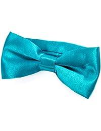 DonDon® Edle Kinder Jungen Fliege gebunden und längenverstellbar 9 x 4,5 cm glänzend in Seiden Look