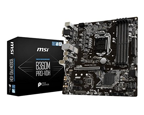 MSI B360M Pro VDH Placa de Base Color Negro