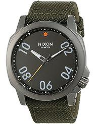 Nixon Herren-Armbanduhr Ranger 45  Gunmetal / Surplus Analog Quarz Nylon A5142072-00