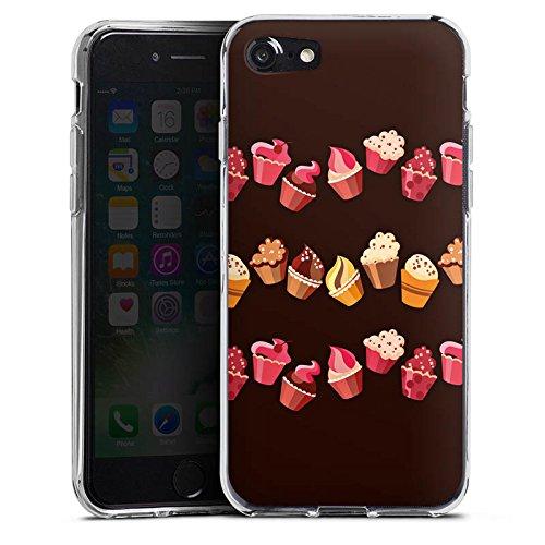 Apple iPhone 6s Plus Hülle Case Handyhülle Chocolate Muffins Cupcake Kuchen Silikon Case transparent