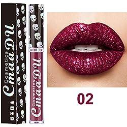 AMUSTER Waterproof Rouge à Lèvres Baume à lèvres liquide Crème hydratante Velvet Matte Lipstick Maquillage Beauté Maquillage (B)