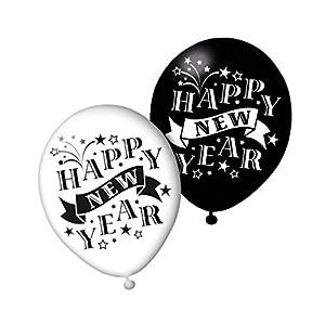 SUSY CARD Globos 40006758 con Texto Happy New Year, 6 Unidades.