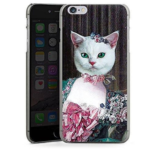 Apple iPhone X Silikon Hülle Case Schutzhülle Kitty Cat Katze Madame Hard Case anthrazit-klar