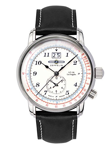 Zeppelin – Orologio da uomo lz126 Los Angeles quarzo data GMT 8644 – 1