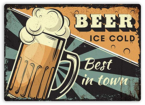 Best Beer Ice Cold Town Metallwand Zeichen Blechschilder Warnung hängen Vintage Kunst Folie Poster Band Malerei Promi Bar Cafe Garten öffentliches Geschenk