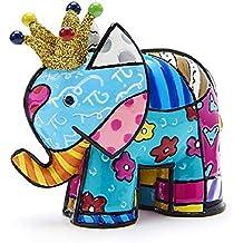 Romero Britto Mini Figur - Elefant Lucky - mit Goldkrone - 6cm, 10th Anniv. Spec.Edition - Pop Art Kunst aus Miami #334538