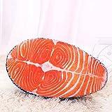 Yeshi salmón Artificial suave y cómoda almohada cojín de peluche juguetes asiento Pad decoración para oficina casa sofá coche
