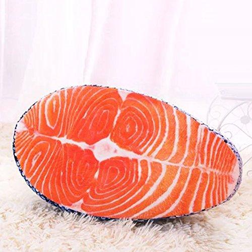 yeshi angenehm weiches Künstliche lachs Kissen Plüsch Kissen Spielzeug Sitz Pad Decor für Office Home Sofa Auto lachsfarben
