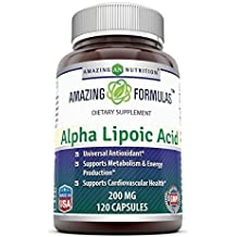 2f818d762fc3 Amazing Nutrition Alpha Lipoic Acid - 200mg, 120 Capsules - Universal  Antioxidant -Supports Cardiovascular