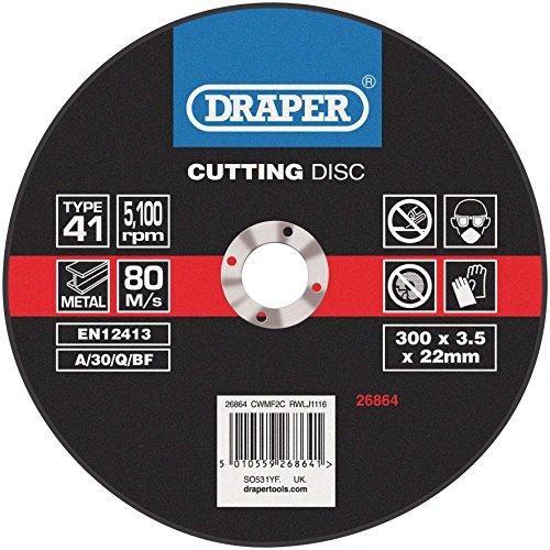 Draper 26864 flat metal cutting discs (300 x 2.8 x 22mm)