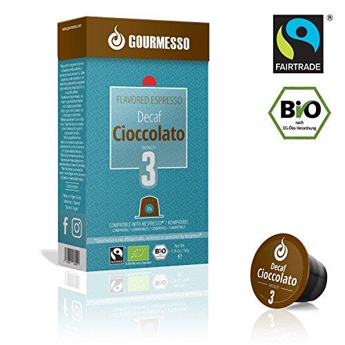 Gourmesso Soffio Decaf Cioccolato (Schokolade) - 30 Nespresso kompatible Kaffeekapseln - Fairtrade   Bio