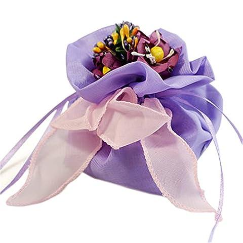 enfants sacs de fête mariage pourpre seules faveurs de faveur parti idées cadeaux organdi sacs cadeaux haut de gamme