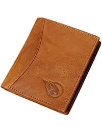 RUGE Genuine Leather RFID Blocking Credit Card Holder for Men