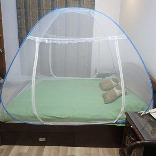 Healthgenie-Mosquito-Net-Double-Bed-foldable-with-Patch-Blue