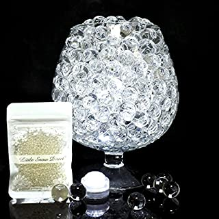 Little Snow Direct ® 12 Packs Expanding Aqua Water Crystal Soil Bio Gel Ball Beads Vase Decoration Filler (Clear)