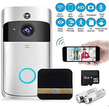 Video Doorbell Wireless 720P HD Wifi Smart Door Bells