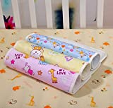 #4: RBC Riya R Baby One Sided Cotton Plastic Sheet Pack Of 4Pcs (Assorted)(0-6 Months)